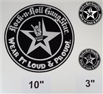 "10"" Wear It Loud & Proud embroidered iron on back patch silver logo Rock n Roll Heavy Metal accessories Rock n Roll GangStar"
