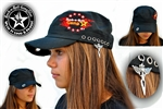 Custom Military Style Hat Rock n Roll Heavy Metal clothing accessories