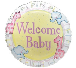 New Baby Boy - Balloons