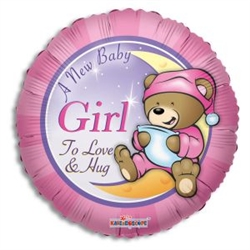 New Baby Girl - Balloons