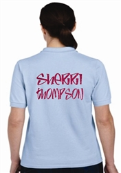 Custom Bowling Polo Shirt with Full Name Ladies Cut