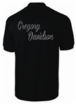 Custom Bowling Polo Shirt with Full Name Mens Cut