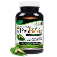 Max 44 ProBiotic 44 Billion Multi-Strain ProBiotic Now with Over 40 Billion Beneficial Organisms Plus Vital PREBIOTIC ProFlora!