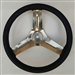 "Azusa Chrome Steel 12"" steering wheel"