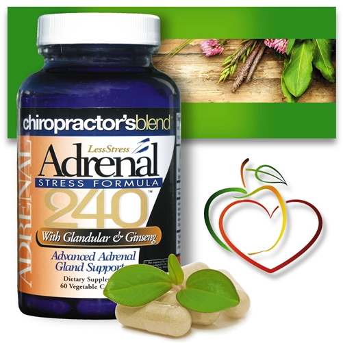<strong>Adrenal Fatigue 240</strong><br>Less Stress Formula