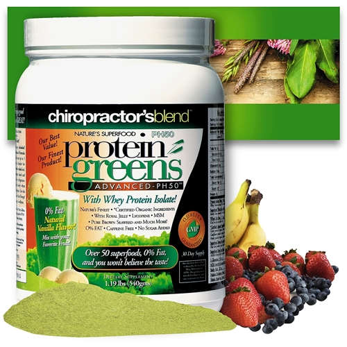 "<strong>""THE ORIGINAL"" PH50 Protein Greens Advanced!<BR><i>Natural Vanilla Flavor Nature's Superfood</strong></i>"