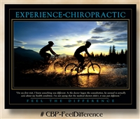 Feel the Difference: Experience Chiropractic 22 x 28 (non-laminated)