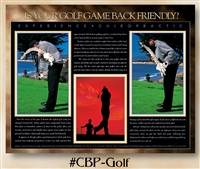 Golf: Is Your Golf Game Back Friendly? 22 x 28 (non-laminated)
