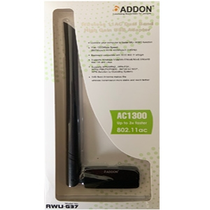 Addon Wireless AC Dual Band 1300Mbps High Gain USB Adapter (AWU-G37)