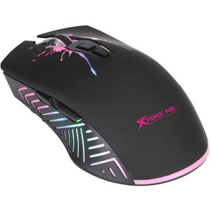 XTRIKE USB Optical Gaming Mouse Multicolour LED Backlight 1200/2400/4800/7200 DPI
