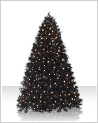 7.5 Foot Classy Black Artificial Christmas Tree