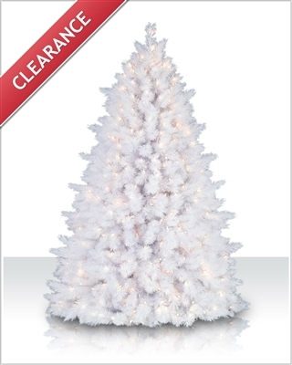 7.5 Foot White Pine Artificial Christmas Trees