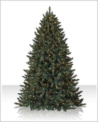 12 Foot  Pre-Lit Balsam Spruce Artificial Christmas Tree with Colored Lights