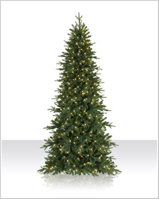 7.5 Foot Kennedy Fir LED Clear Christmas Tree