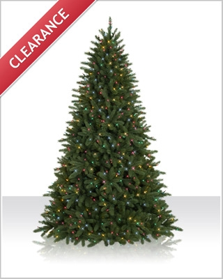 7.5 Foot Pomona Pine Multi Lights Christmas Tree