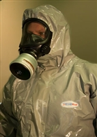 Indutex JetGuard Plus CBRN Chemical, Biological, Nuclear Protective Coverall Suit w/ Hood & Booties