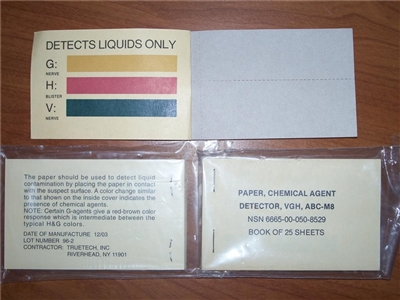 M8 Chemical Agent Detector Paper