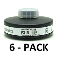 MIRA Safety ParticleMax P3 Virus Filter - 6 Pack, protects from coronavirus