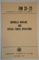 GUERRILLA WARFARE AND SPECIAL OPERATIONS FM-31-21
