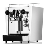 Fracino Cherub stainless steel espresso coffee machine.