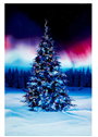 "Borealis Christmas Tree Digital Panel 30"" Hoffman Fabrics"