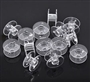 JANOME NEW HOME 10 CLEAR PLASTIC BOBBINS