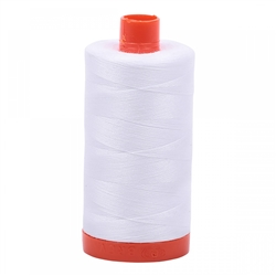 50wt Aurifil Cotton Thread Silver White