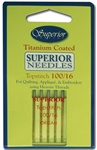 Superior Titanium Topstitch Needles - Size 100/16