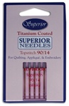 Superior Titanium Topstitch Needles - Size 90/14