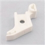 Low Shank Snap On Sewing Presser Foot Adaptor Ankle 4124112 for Husqvarna Viking,White