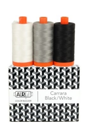 Carrara Black/White Aurifil Thread Box