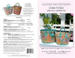 Cork Totes Pattern Aunties Two Patterns AT643