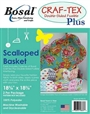 Craf-TEX Double Sided Fusible Plus Scalloped Baskets