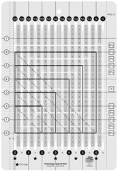 Creative Grids Stripology Squared  Ruler  CGRGE2