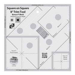 Creative Grids Square on Square Trim Tool - 4in or 8in Finished  CGRJAW8