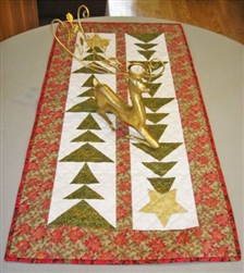 Tall Trees Christmas Table Runner Pattern by Cut Loose Press CLPBGR004