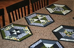 Set of 6 Hexie Placemats