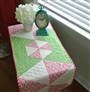Peppermint Table Runner Pattern by Cut Loose Press