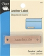 "Dritz Leather Label Rectangle - ""Handmade"""