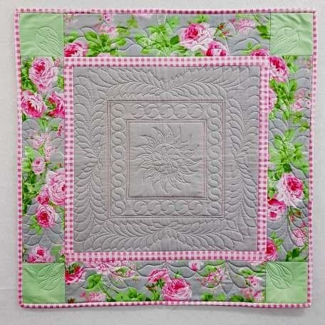 Feathered Rose Quilt Pattern Janet Collins StitchintheDitch Canada Adorable Rose Quilt Pattern