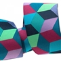 Jacquard Blue Tumbling Blocks 1-1/2in Ribbon