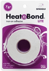 "Heat'n Bond Lite Iron-On Adhesive 7/8"" x 10 Yds"