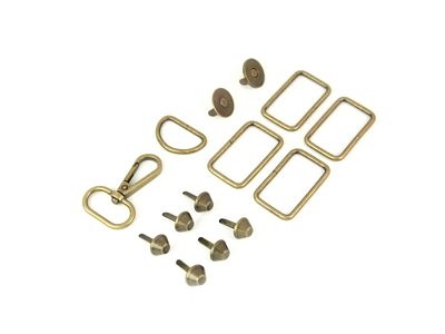 Patterns ByAnnie Hardware Set Antique Brass 1-1//2in