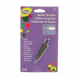 Nifty Notions Flat Metal Needle Threader 2/pkg Wool Applique