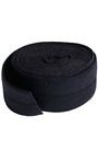 Black Fold-over Elastic - 7/8in x 2 yard