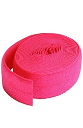 Fold-over Elastic Lipstick Pink 7/8in x 2 yard -