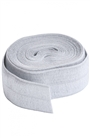 Pewter Grey Fold Over Elastic