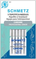 Schmetz Chrome Topstitch 90/14 Carded 5 Pack