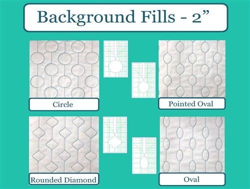5pc Set Westalee Design Mini Background Fills Collection High Shank