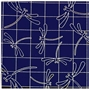 Sashiko Sampler Traditional Design Dragonfly Navy